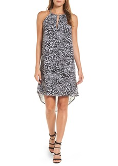 MICHAEL Michael Kors Big Cat Chain Neck Trapeze Dress