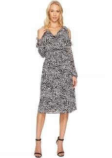 MICHAEL Michael Kors Big Cat Cold Shoulder Dress