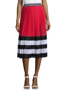 MICHAEL MICHAEL KORS Block Striped Pleated Skirt