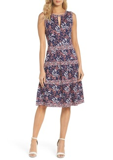 MICHAEL Michael Kors Blooms Border Tiered Dress