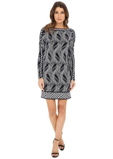 MICHAEL Michael Kors Boat Neck Border Dress