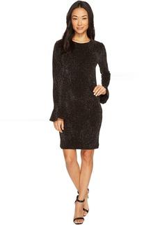 Bodycon Flounce Sleeve Dress
