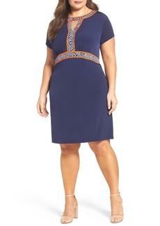 MICHAEL Michael Kors Border Print A-Line Dress (Plus Size)