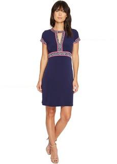 MICHAEL Michael Kors Border Print Combo Matte Jersey Dress