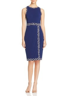 MICHAEL Michael Kors Border Print Faux Wrap Dress