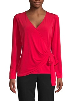 MICHAEL Michael Kors Bow Tie Wrap Top