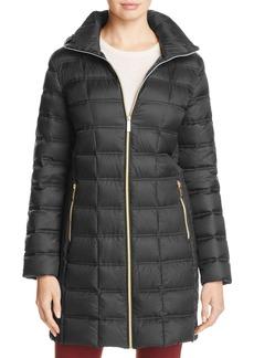 MICHAEL Michael Kors Box Quilt Packable Down Coat