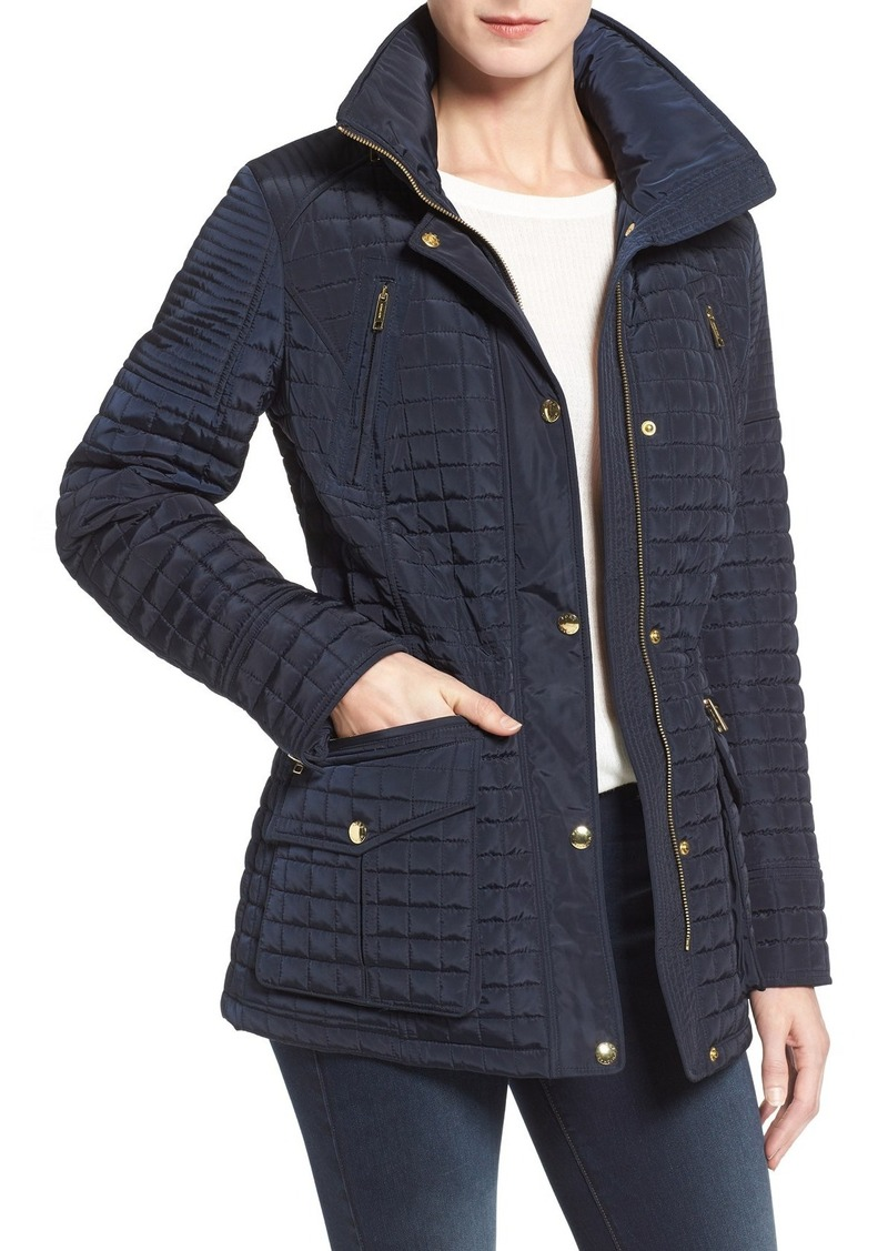 MICHAEL Michael Kors Box Quilted Stowaway Hood Jacket