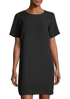 MICHAEL Michael Kors Boxy Tee Studded Shift Dress