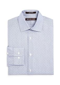 MICHAEL Michael Kors Boys' Neat Pattern Dress Shirt - Big Kid