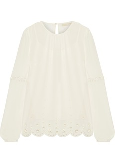 MICHAEL Michael Kors Broderie anglaise georgette blouse