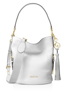 MICHAEL Michael Kors Brooke Medium Leather Bucket Bag