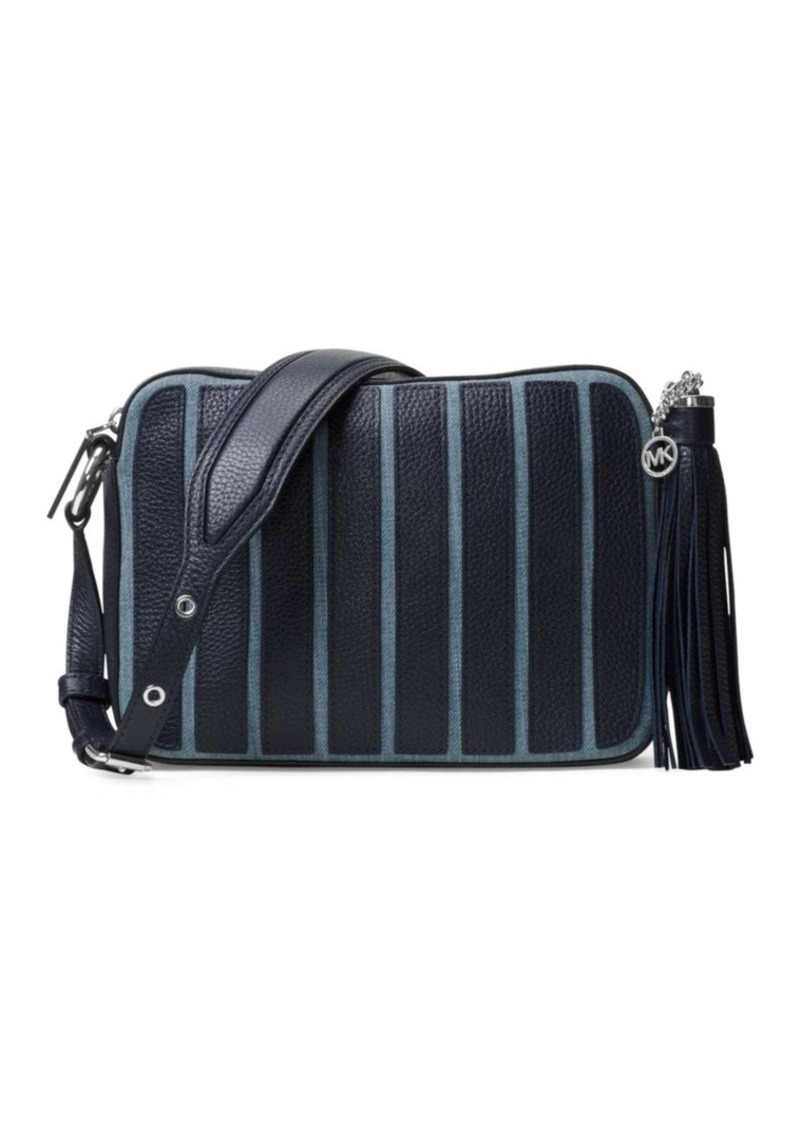 e8ea14a5f337 Brooklyn Applique Striped Tassel Large Camera Bag. MICHAEL Michael Kors