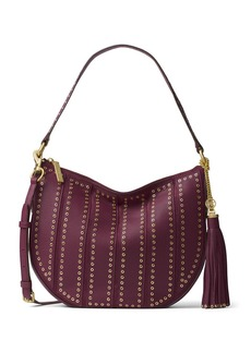 MICHAEL MICHAEL KORS Brooklyn Medium Convertible Leather Hobo Bag