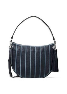 MICHAEL Michael Kors Brooklyn Medium Striped Canvas Convertible Hobo Bag