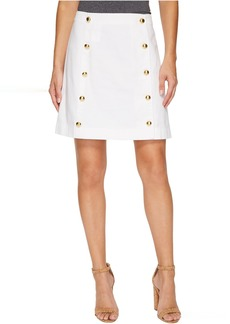 MICHAEL Michael Kors Button Detail Mini Skirt