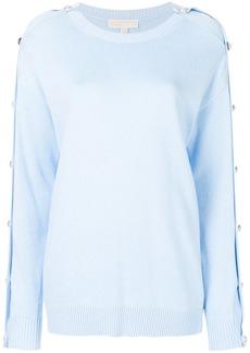 Michael Michael Kors button-embellished jumper - Blue