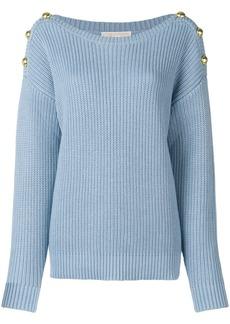 Michael Michael Kors button embellished sweater - Blue
