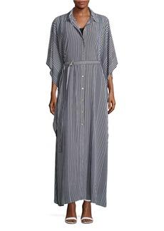 MICHAEL MICHAEL KORS Button Front Belted Kaftan Dress