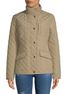 MICHAEL Michael Kors Button-Up Quilted Jacket