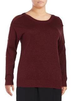 MICHAEL MICHAEL KORS Plus Plus Buttoned Sweater