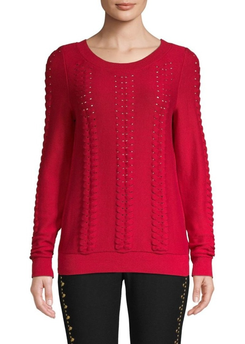 MICHAEL Michael Kors Cable-Knit Cotton Sweater