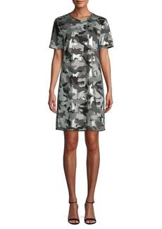 MICHAEL Michael Kors Camo Cotton Shift Dress