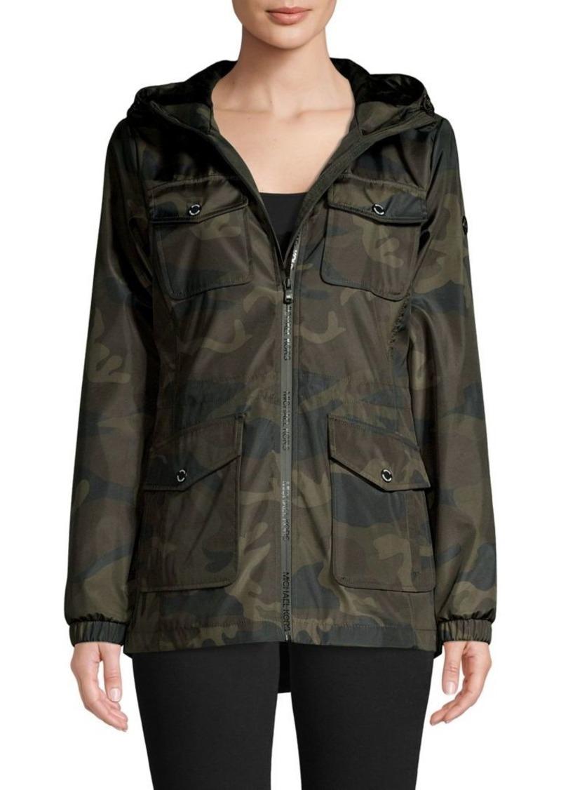 MICHAEL Michael Kors Camo-Printed Hooded Jacket