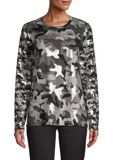 MICHAEL Michael Kors Camouflage Cotton Top