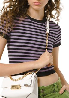 MICHAEL Michael Kors Candy Striped Cropped Tee