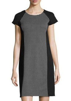 MICHAEL Michael Kors Cap-Sleeve Print Ponté Dress