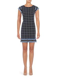 MICHAEL MICHAEL KORS Cap Sleeve Printed Knit Sheath Dress