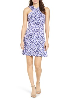 MICHAEL Michael Kors Carnations Cross Neck Fit and Flare Dress