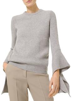 MICHAEL Michael Kors Cashmere Flare Sleeve Sweater