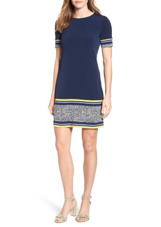 MICHAEL Michael Kors Celia Border Print Shift Dress (Regular & Petite)