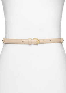 MICHAEL Michael Kors Chain-Back Leather Belt