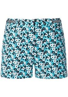 MICHAEL Michael Kors chain-embellished floral-print shorts