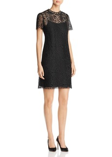 MICHAEL Michael Kors Chain Embellished Lace Dress