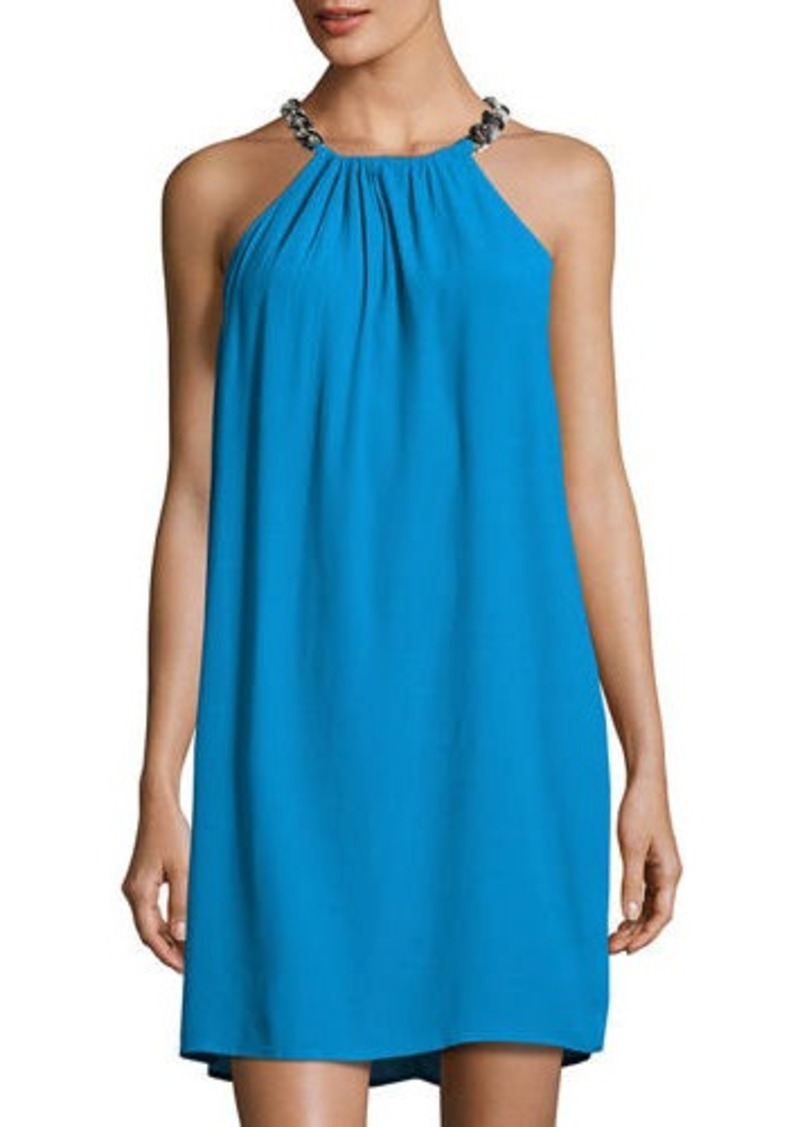 c7dad52d20 MICHAEL Michael Kors MICHAEL Michael Kors Chain-Halter Shift Dress ...