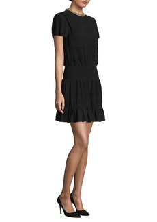 MICHAEL MICHAEL KORS Chain Neck A-Line Dress