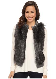 MICHAEL Michael Kors Chain Neck Fur Front Vest