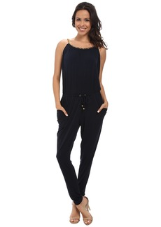 MICHAEL Michael Kors Chain Neck Peg Leg Jumpsuit