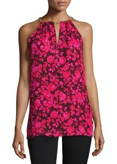 MICHAEL Michael Kors Chain-Neck Printed Halter Top