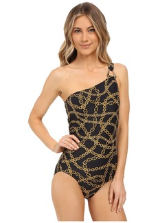 MICHAEL Michael Kors Chain One Shoulder Maillot One-Piece