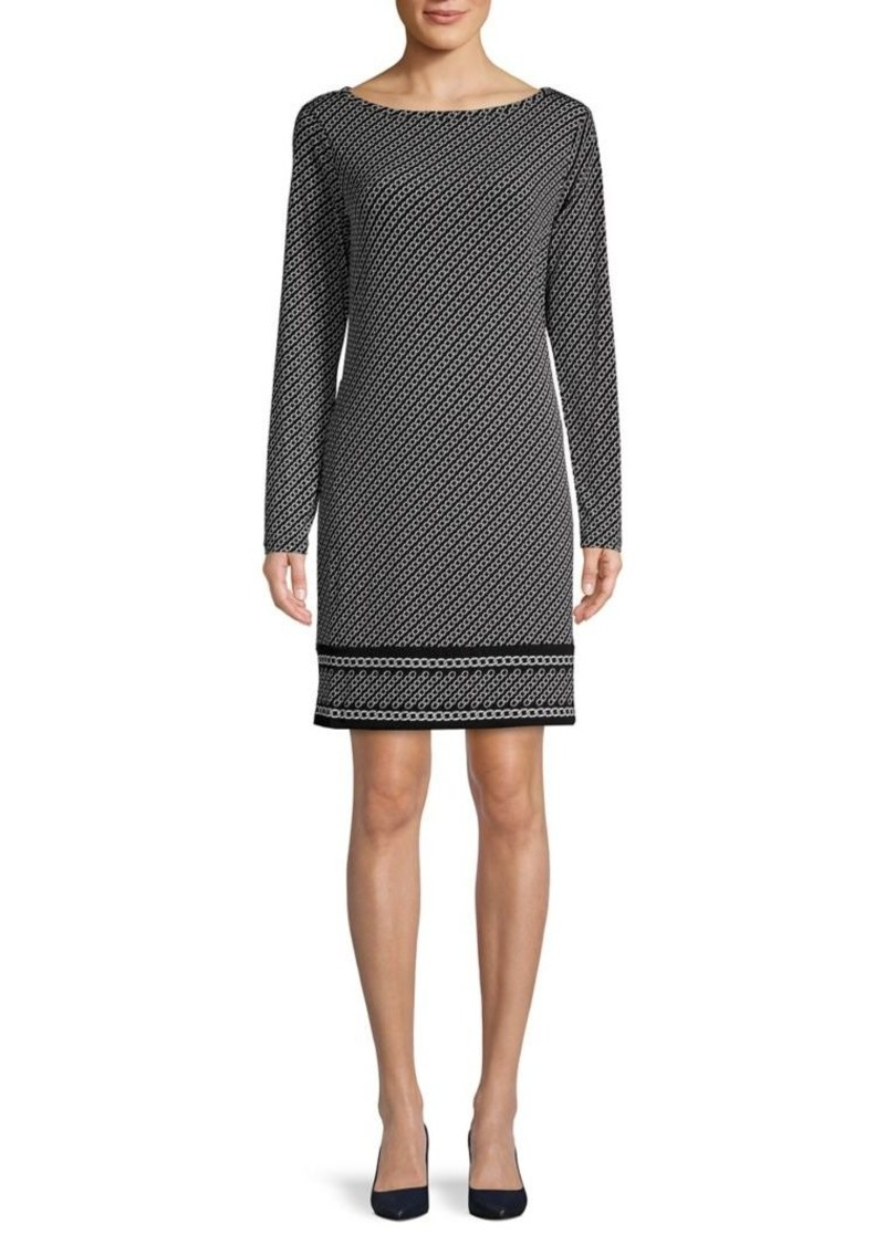 MICHAEL Michael Kors Chain-Print Shift Dress