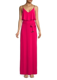 MICHAEL Michael Kors Chain Strap Floor-Length Dress