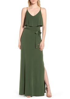 MICHAEL Michael Kors Chain Strap Popover Maxi Dress