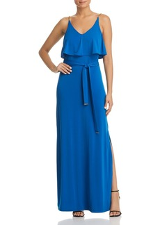 MICHAEL Michael Kors Chain-Strap Ruffled Maxi Dress