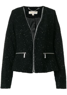 Michael Michael Kors chain trim jacket - Black