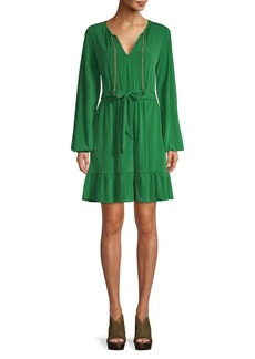 MICHAEL Michael Kors Chain-Trimmed Shift Dress